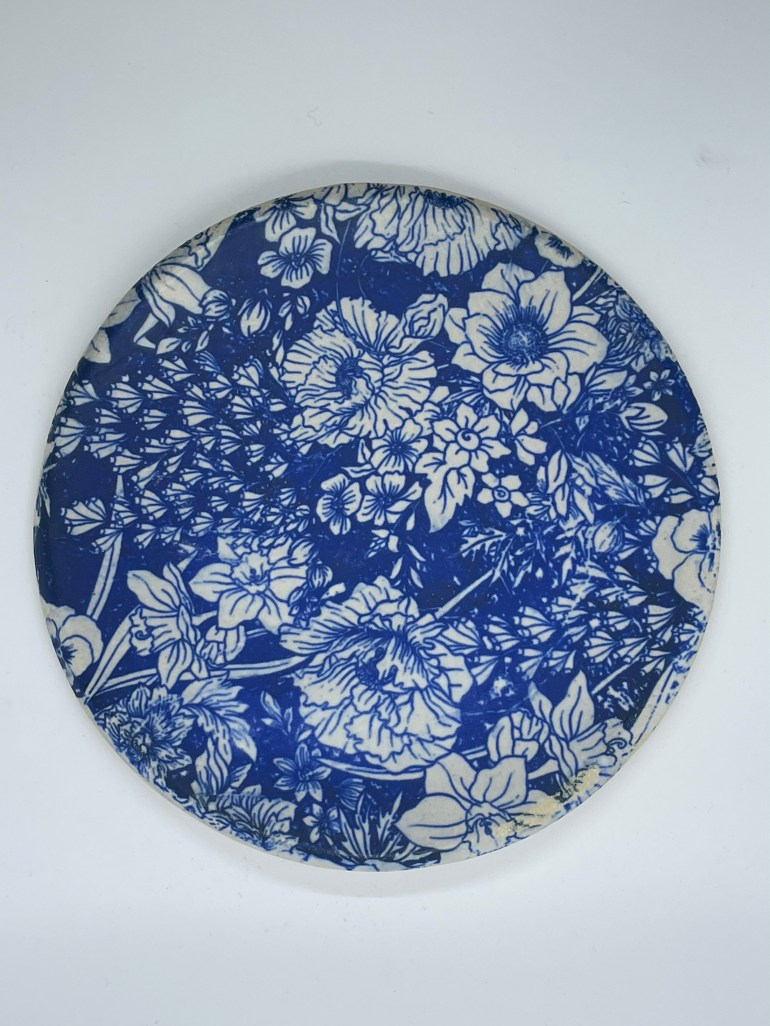 Off the Pottery Wheel: Blue Plate Using Elan Transfers