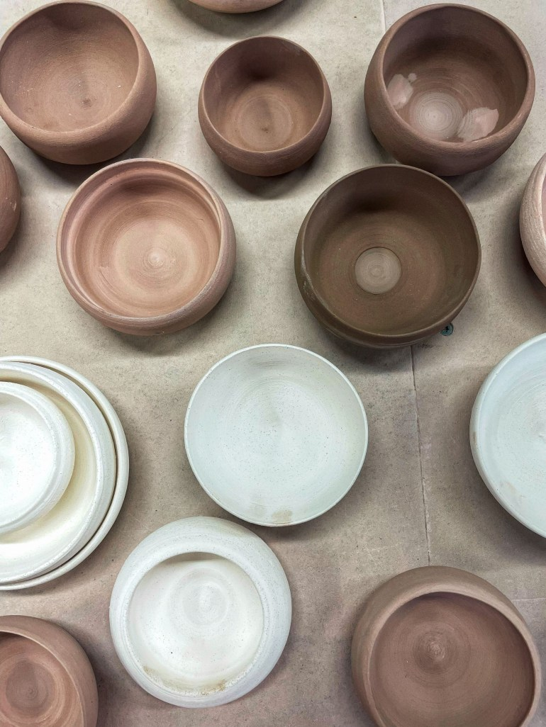 Off the Pottery Wheel: Freshly Thrown Bowls