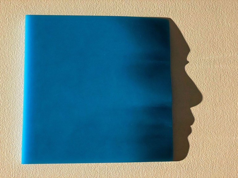 Blue: Faces and Shadows at the New Mexico History Museum in Santa Fe, New Mexico