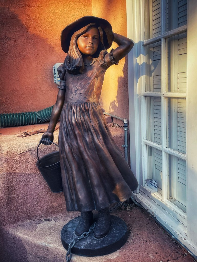 Photographing Public Art: Statues and Shadows on Canyon Road in Santa Fe