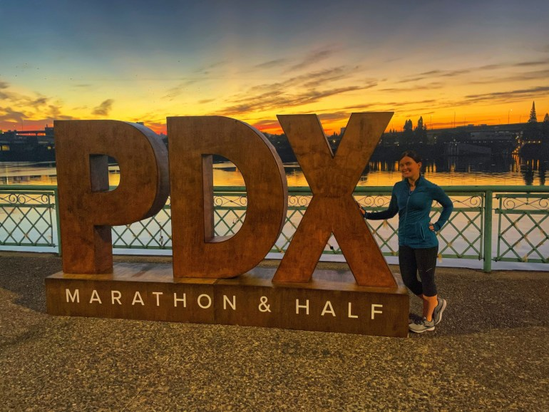 Weekend Sky: At the Start Line of the Portland Marathon