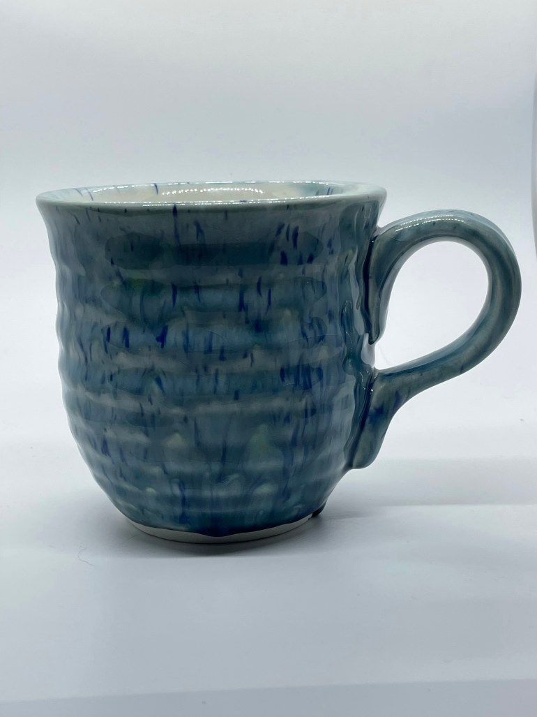 Hand Made Pottery: Monet Inspired Large Coffee Cup