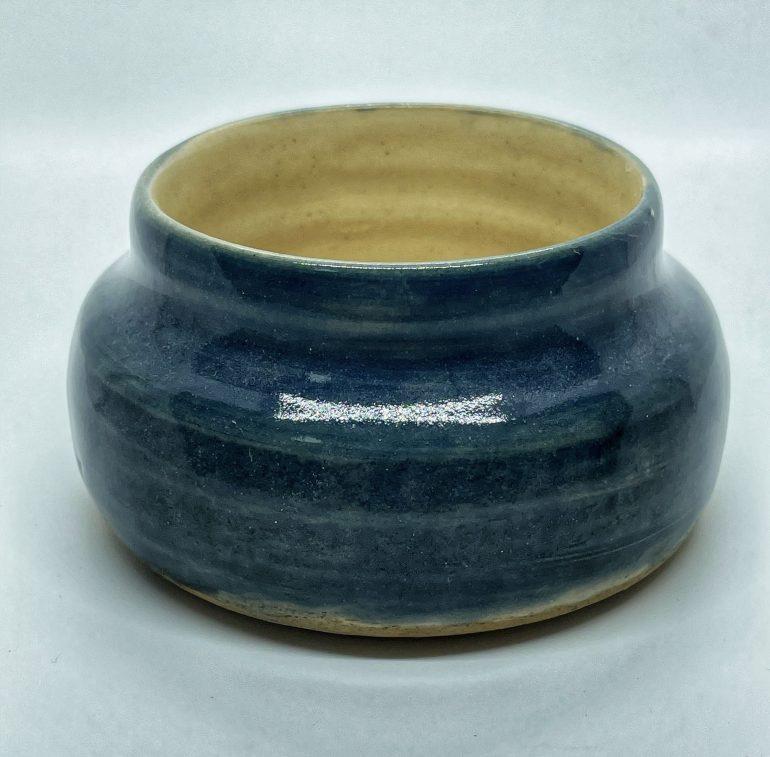Hand Made Pottery: Mini Blue Celadon Vase