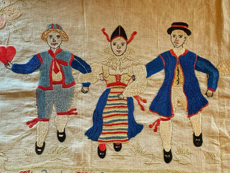 Beautiful Embroidery at the American Swedish Institute in Minneapolis, Minnesota