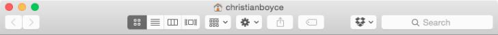 No toolbar labels