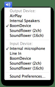 Sound with Option key