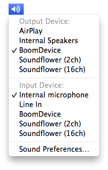 Sound with Option key