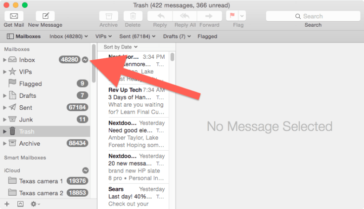 Mail offline indicator