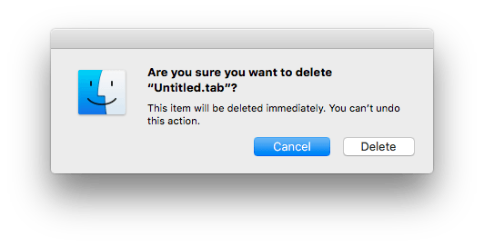 Are you sure you want to delete immediately?