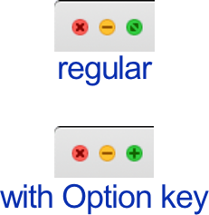 Zoom buttons