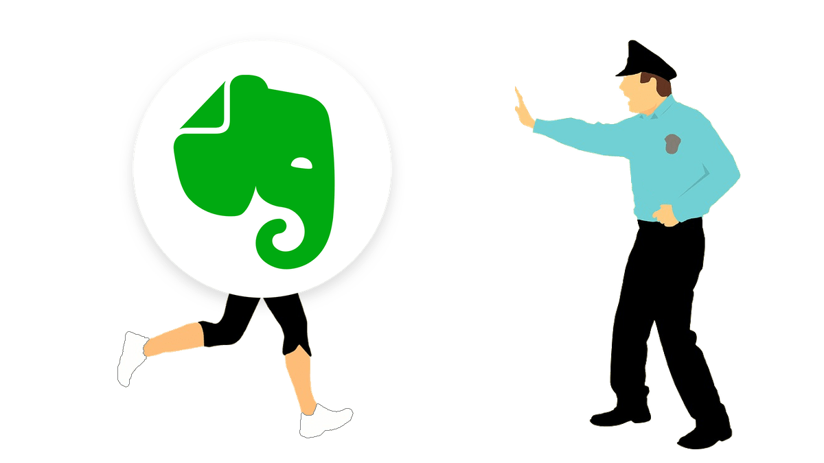 Evernote stop running at startup