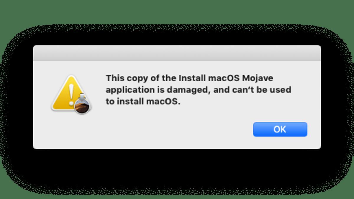 Damaged Installer error message