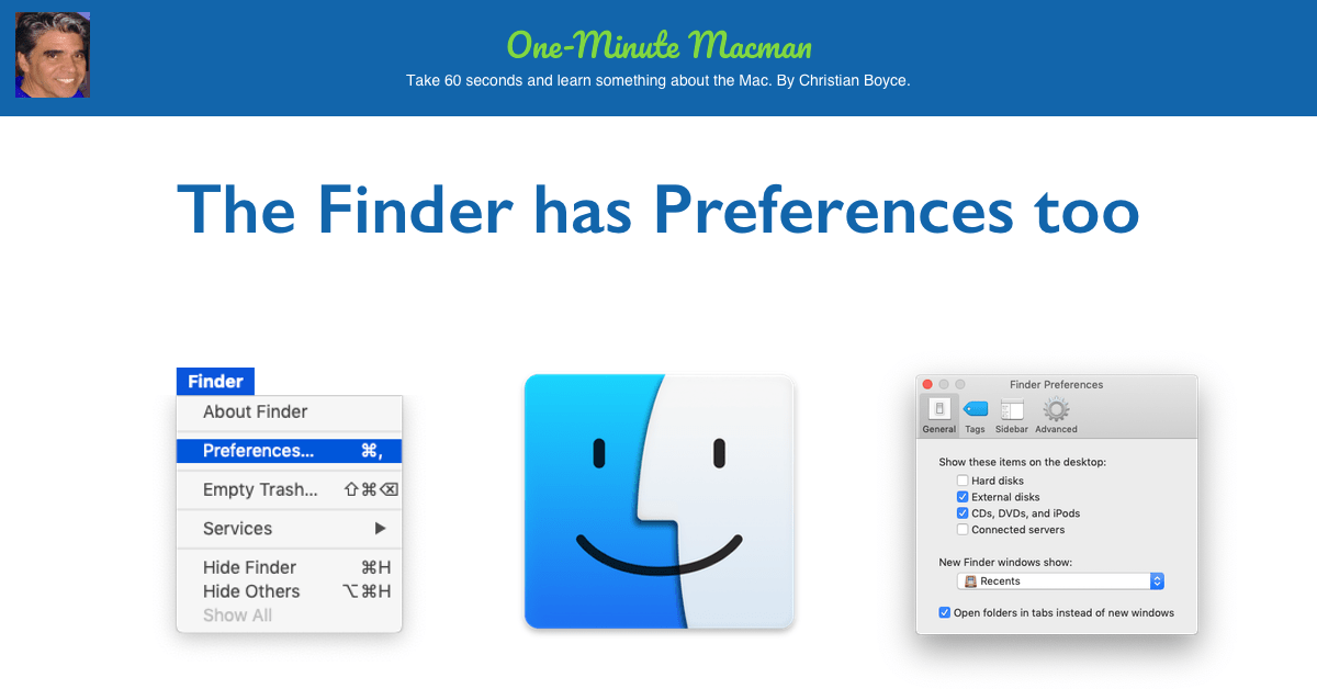 The Finder has preferences too