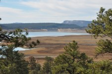 Low lake and dam