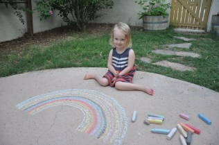 Chalk art with Papa
