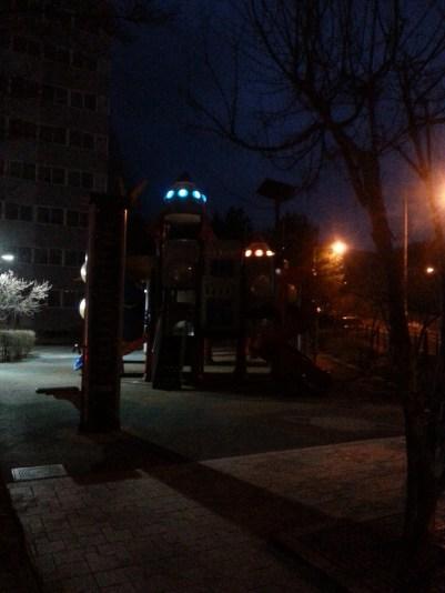 Alien light show