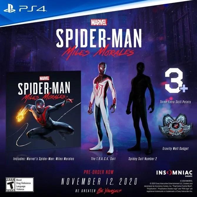 spider-man: miles morales pre-order bonus