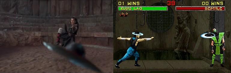 mortal kombat game and movie comparison 12