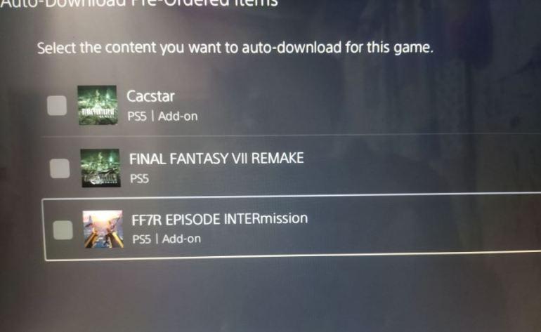 Final Fantasy VII Remake Intergrade file size 2