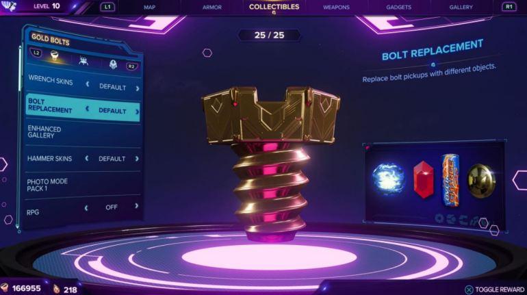 Rift Apart - All Gold Bolt Rewards 2