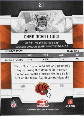 2009 Elite Ocho Cinco Back