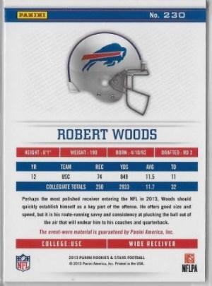 2013 Longevity Robert Woods Patch Back
