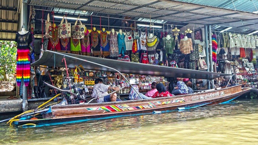 mercato galleggiante dettaglio