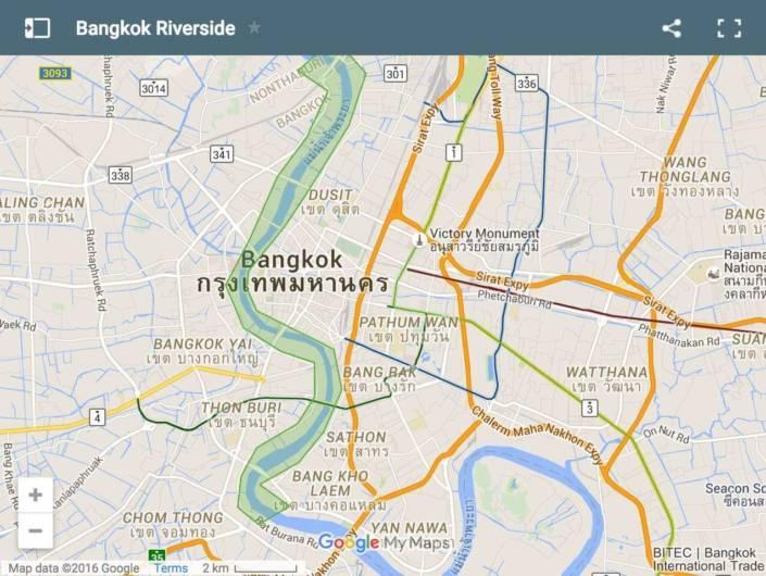 dove dormire a Bangkok. Riverside Area