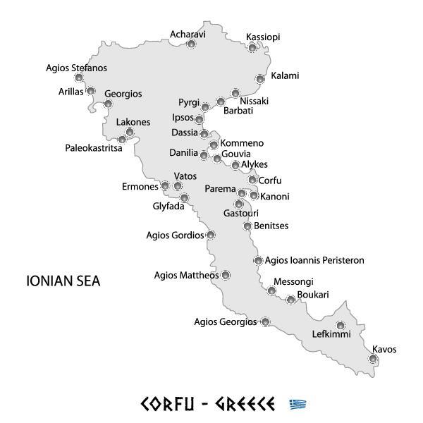 mappa di Corfù