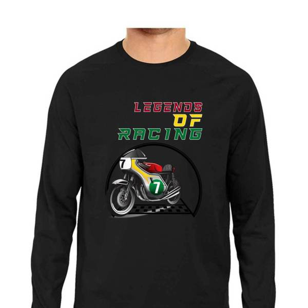 classic motorcycle racing full sleeves shirt for men and women