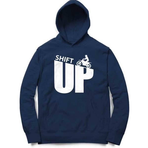 shift up off road typography biker motorcycle sweatshirt hoodie for men and women