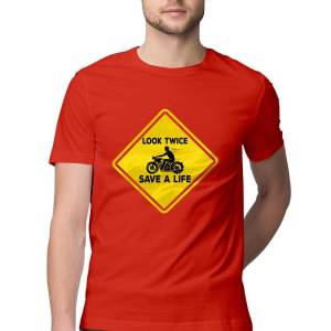 look twice save a life safe riding safety awareness biker t shirts for men