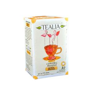 Tealia Pyramid Infusion Tea Bags - Caramel Rooibos