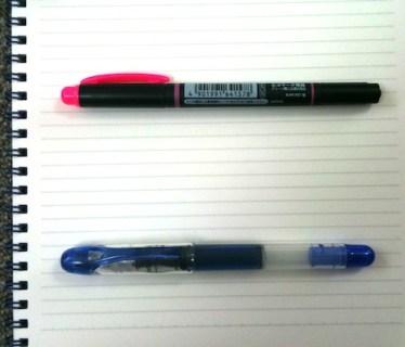 やる気満々の蛍光ペン