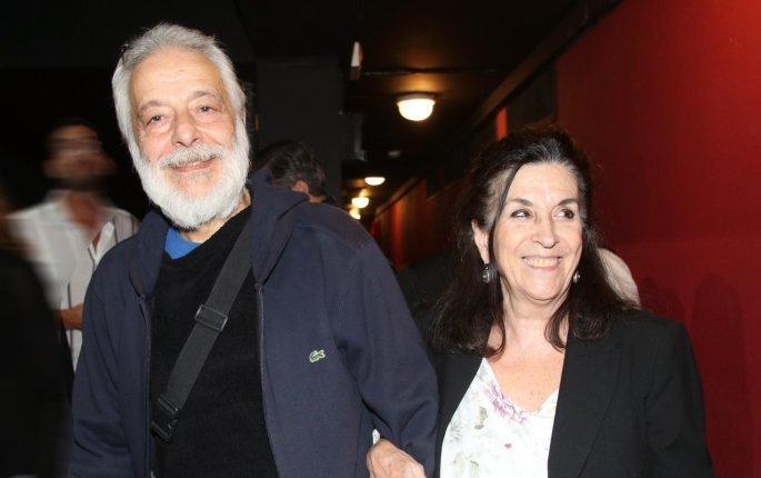 Η Νένα Μεντή με τον σύντροφό της ηθοποιό Σταύρο Μερμήγκη