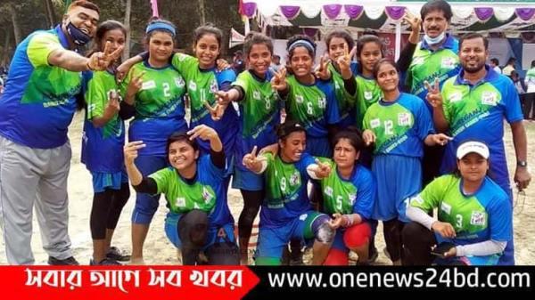 ময়মনসিংহ জেলা দলকে হারিয়ে ফাইনালে কিশোরগঞ্জ জেলা নারী কাবাডি দল