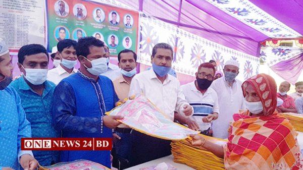 ৩ শতাধিক পরিবারকে ঈদ উপহার দিল কুলিয়ারচর প্রবাসী সম্প্রীতি ফোরাম