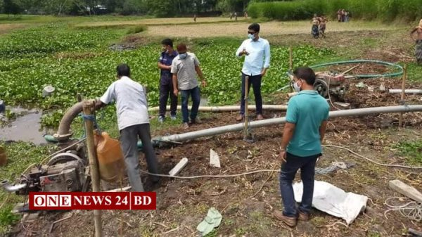 পাকুন্দিয়ায় অবৈধভাবে বালু উত্তোলন করায় ৫০হাজার টাকা জরিমানা