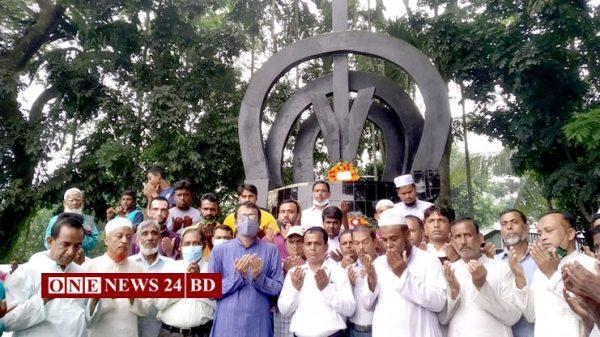 কিশোরগঞ্জে বরইতলা গণহত্যায় শহীদদের স্মরণে শ্রদ্ধা নিবেদন