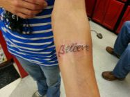 believe tattoo, tattoos forever,