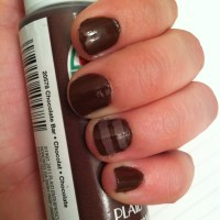 Acrylic Nail Tutorial: Coffee Stripes and Chocolate