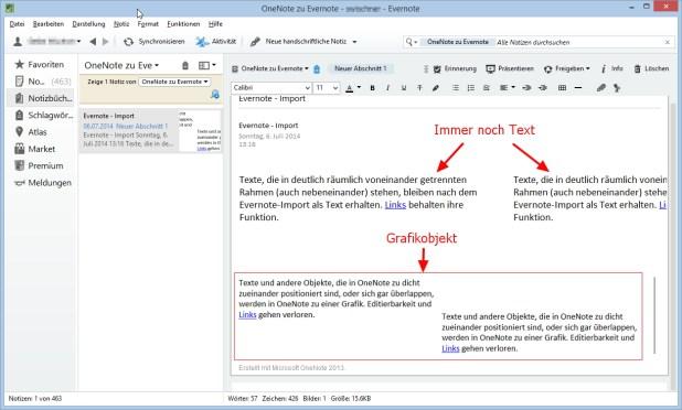Nach dem Import in Evernote werden die aber unter Umständen zu nicht mehr editierbaren Grafikobjekten.
