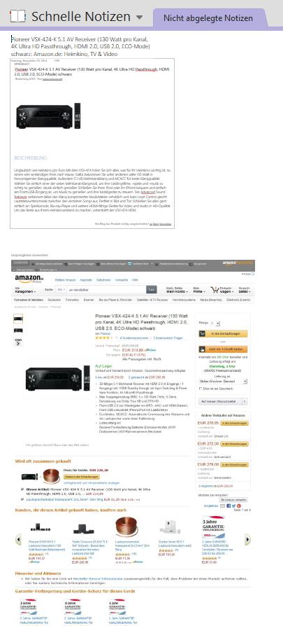 Warum der komplette Produktseiten-Screenshot  mit gespeichert wird (Darstellung hier stark verkleinert), sollte zumindest eine auswählbare Option sein.