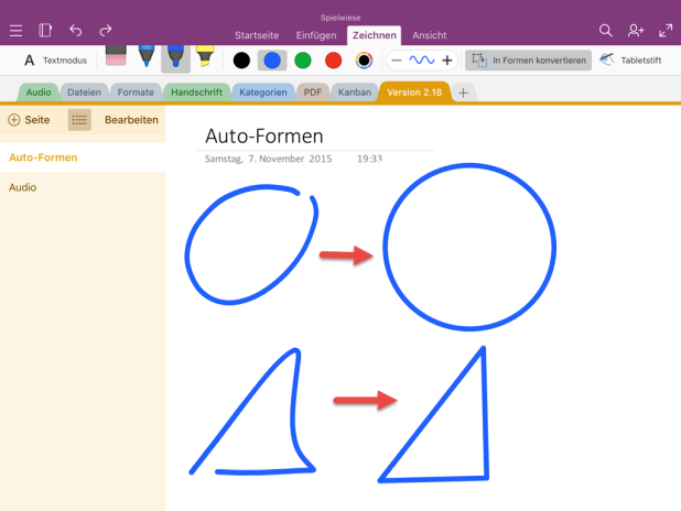 Autoshapes: An sich eine gute Idee, zittrige Kringel automatisch zum perfekten Kreis zu formen. Ein bisschen was fehlt aber noch.