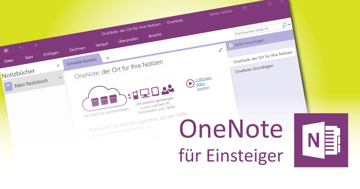 OneNote-Notizbuch erstellen