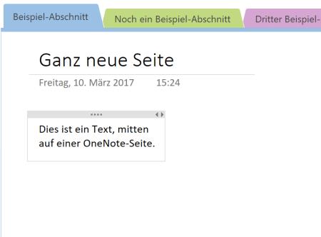 verschobene Textbox in OneNote
