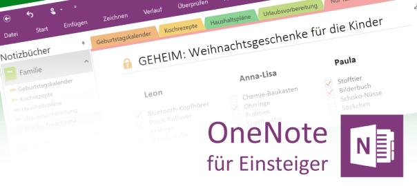 Kennwortschutz für Abschnitte in OneNote - Teaser