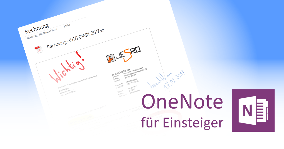 PDF-Dateien in OneNote - Teaser