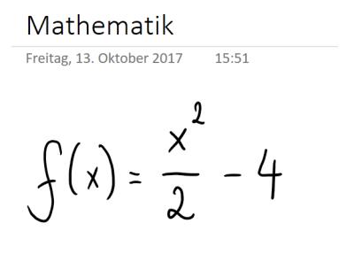 Mathematische Funktion in OneNote