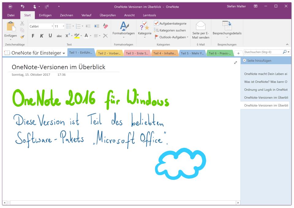 OneNote 2016 für Windows